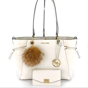 3PCS Michael Kors Nicole LG Grab Bag Wallet Charms